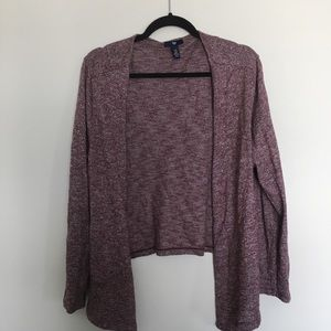 Gap Heathered maroon cardigan size extra large
